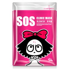 Тканевая маска для лица BeauuGreen SOS Clinic Mask BLEMISH (борьба с прыщами)